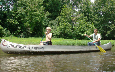 canoe trips on the big river