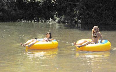 tube floats on big river missouri